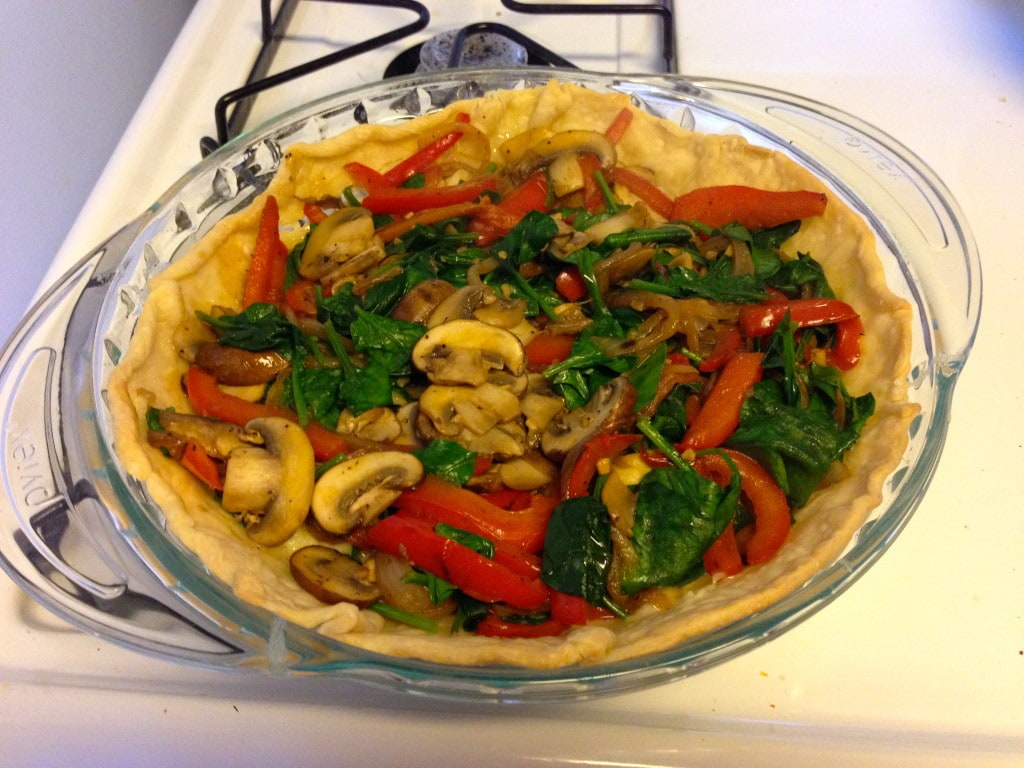 Easy Veggie Quiche - Vegetables