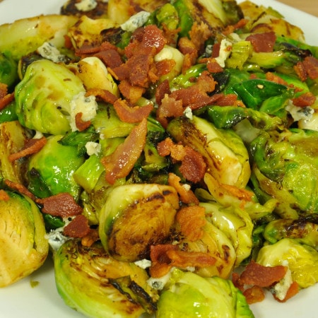 Bacon Blue Cheese Brussels Sprouts