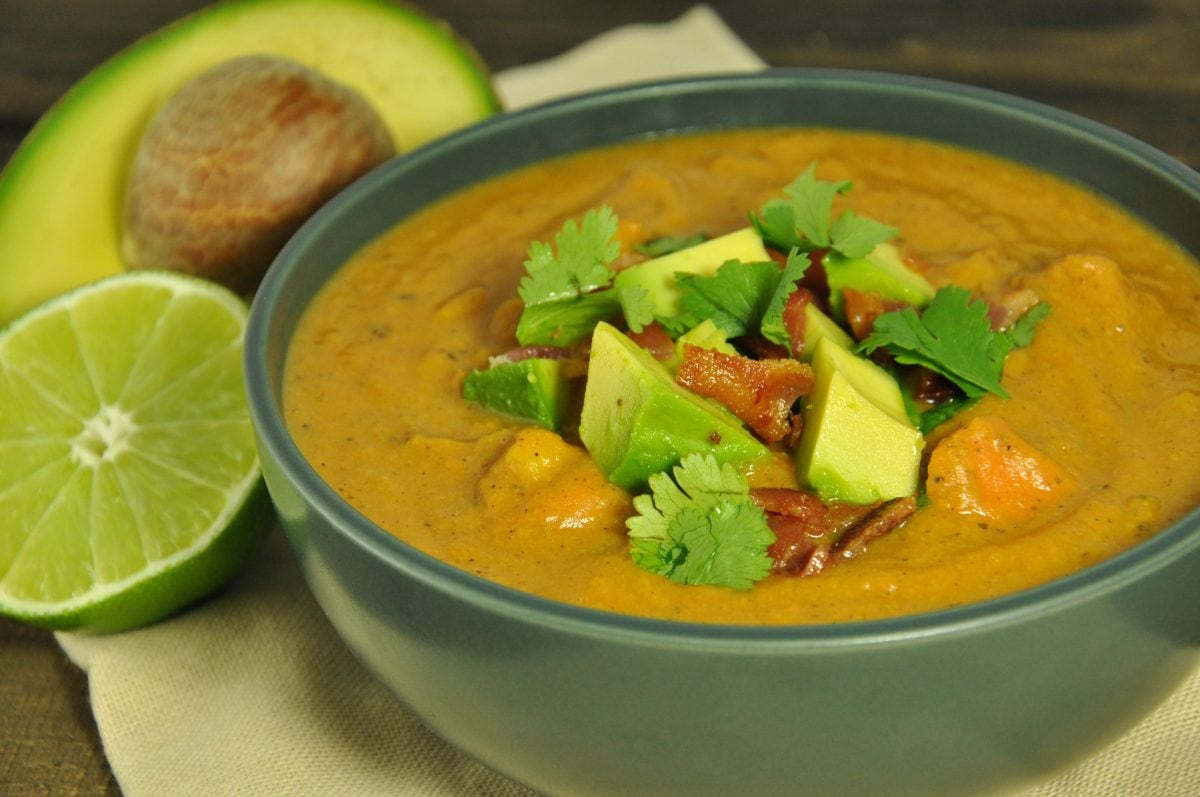 Chipotle Sweet Potato Soup - Feasting not Fasting