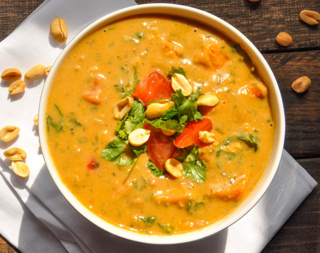 Creamy, delicious, and filling, this African peanut soup is brimming ...