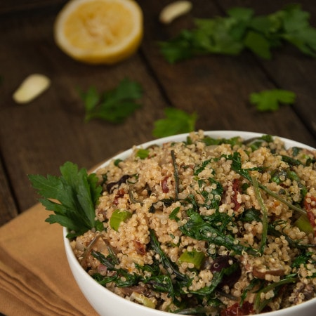 Vegan Lemon Quinoa Salad