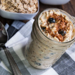 Overnight Oats with Blueberries and Cream