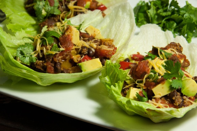 Vegetarian lettuce wraps put a tasty low carb spin on tacos and will ...