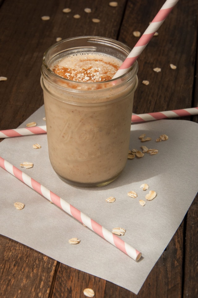 Creamy, delicious vegan banana almond milk smoothie is nutritious and loaded with fiber but tastes like a decadent desert!
