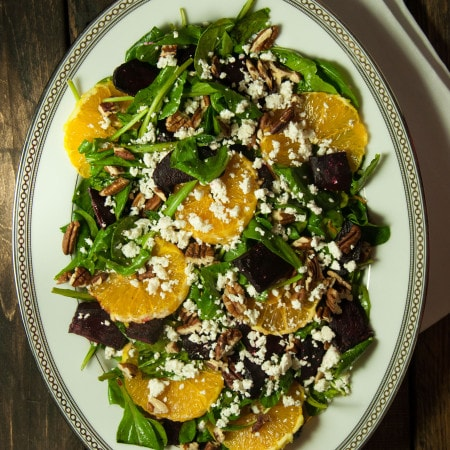 Arugula Salad with Roasted Beets and Orange Slices