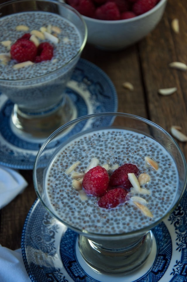 Healthy almond chia seed pudding is an easy make-ahead breakfast or desert packed with antioxidants and omega 3's that takes under 5 minutes to prepare!