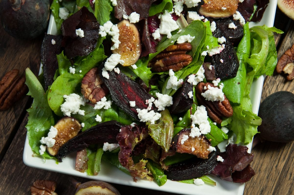 Oven Roasted Fig Salad Recipe — Dishmaps