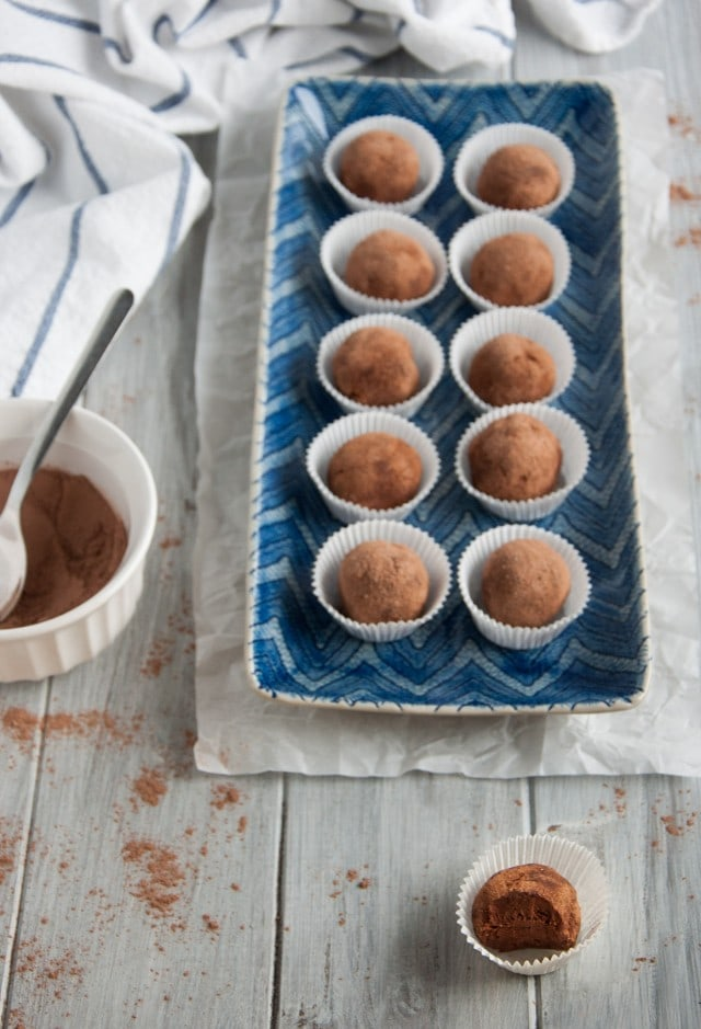 Creamy chocolate truffles are made healthier with a secret ingredient - avocado! You can't taste it at all, but will reap all the health benefits.