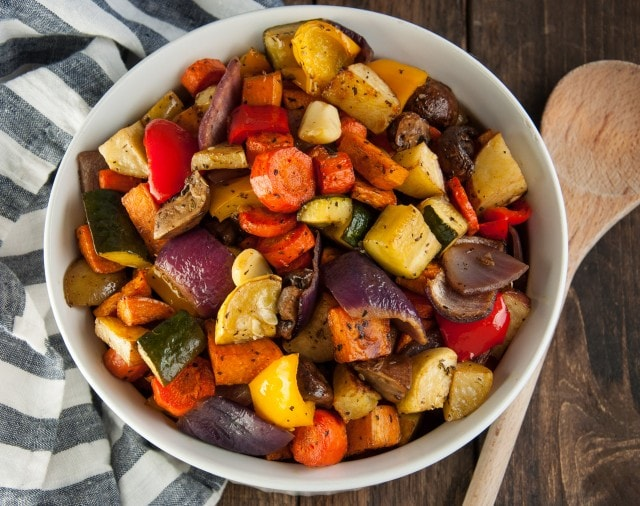 Balsamic roasted veggies are one of the easiest, tastiest, and healthiest way to get your vegetable servings.
