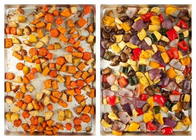 Balsamic Roasted Veggies - unbaked