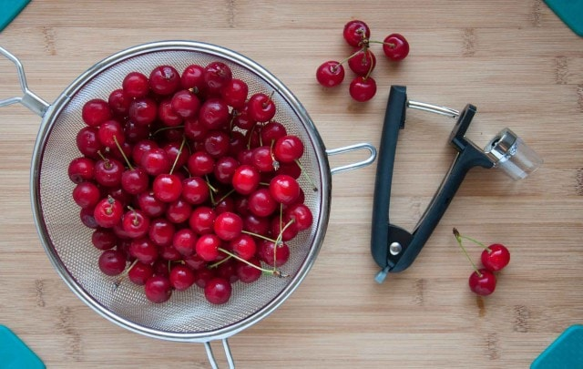 In this tasty sour cherry galette, tart cherries and heart healthy almonds come together in a nutritious whole wheat and almond flour crust for a perfect healthy desert.