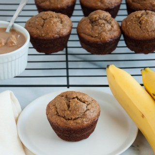 Peanut Butter Banana Muffins with Oat Flour