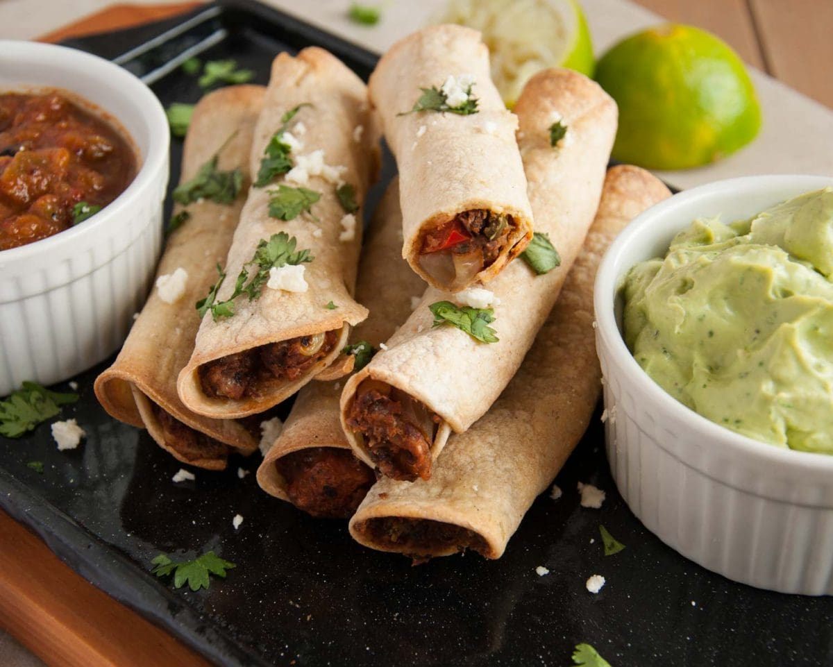 Baked Black Bean Taquitos - Feasting not Fasting