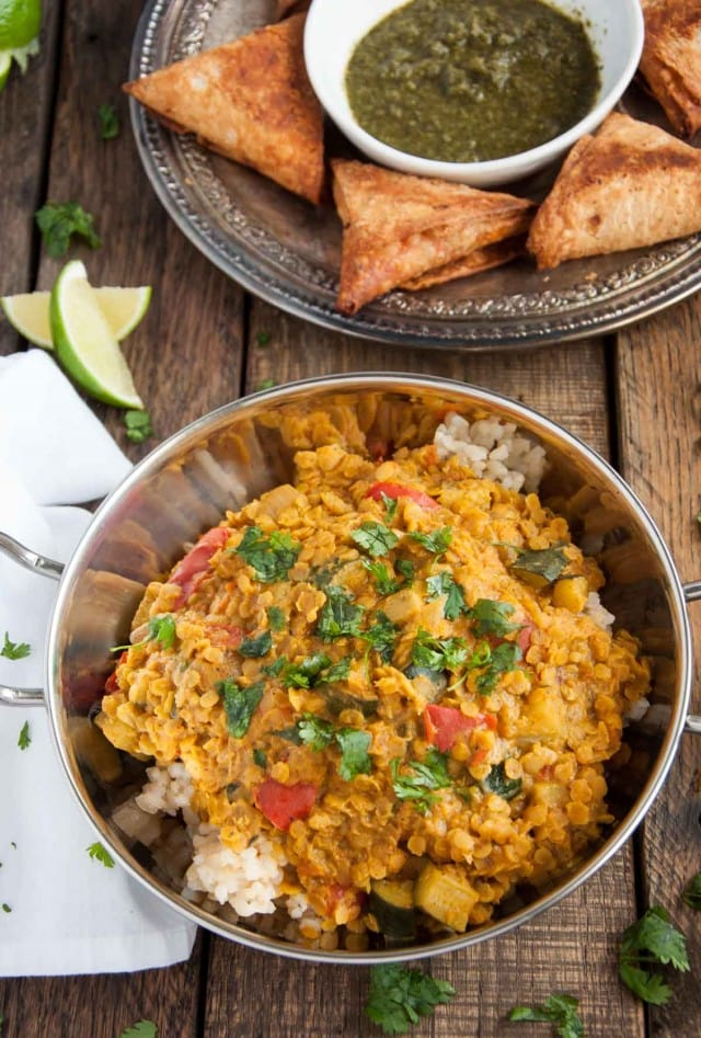 Indian Red Lentil Dal - Feasting not Fasting