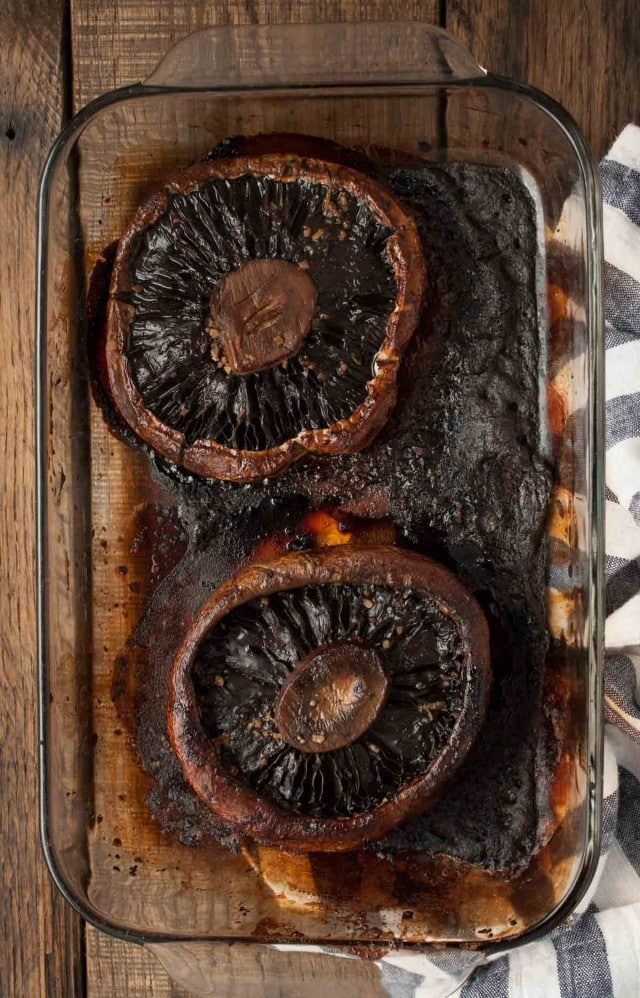 Marinated and then baked, these portobello mushrooms are simply the best, whether as a side accompanying another entrée or as a vegetarian main dish.