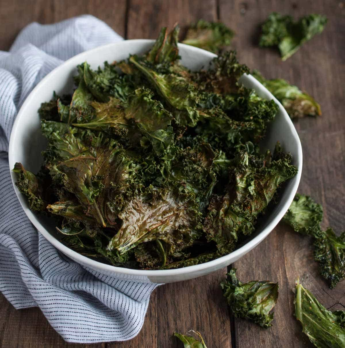 Cajun Roasted Kale Chips - Feasting not Fasting