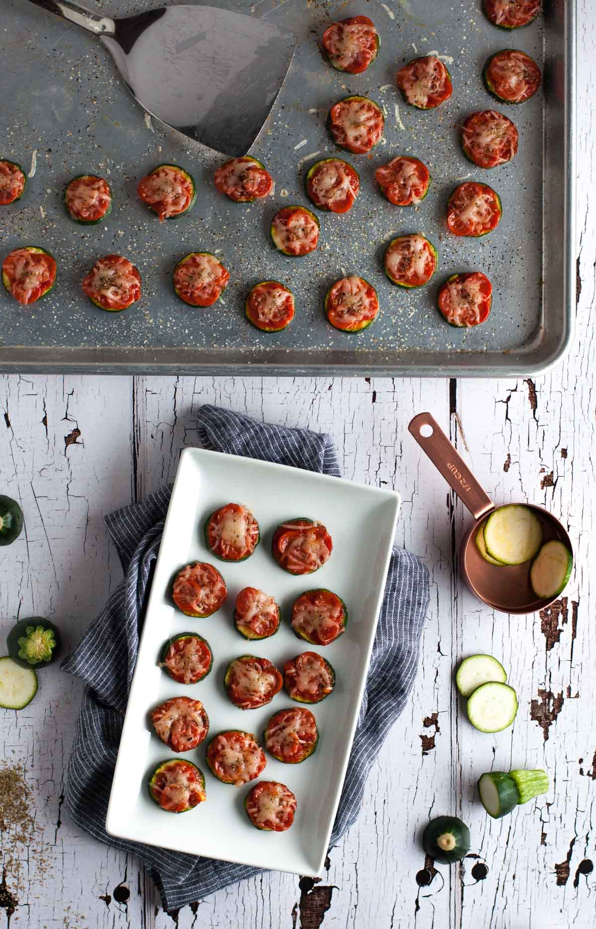 Zucchini pizza bites are the perfect snack for game day or any other time you need a healthy appetizer that is simple and easy to make, but full of flavor.