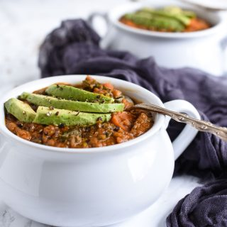 curry lentil soup white bowls