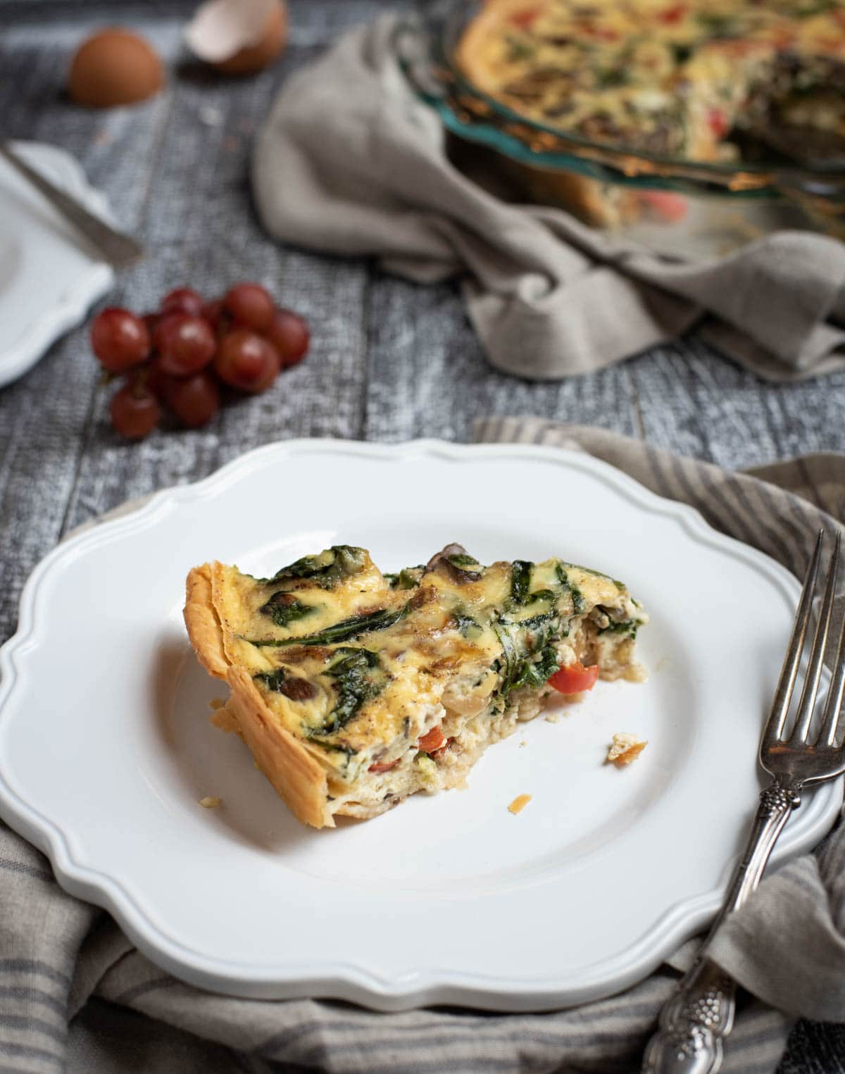 Easy Veggie Quiche Feasting Not Fasting