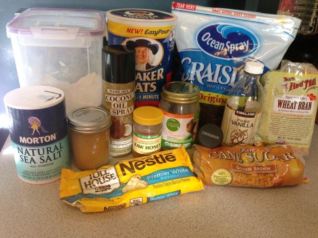 Basic Granola Bar - Ingredients