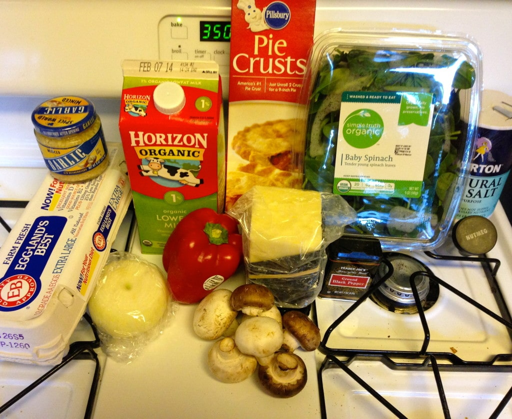 Easy Veggie Quiche - ingredients