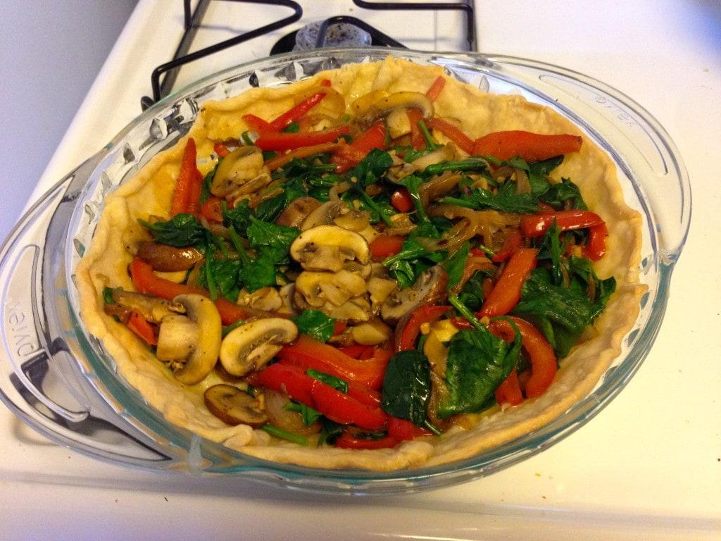 Easy Veggie Quiche - Vegetables