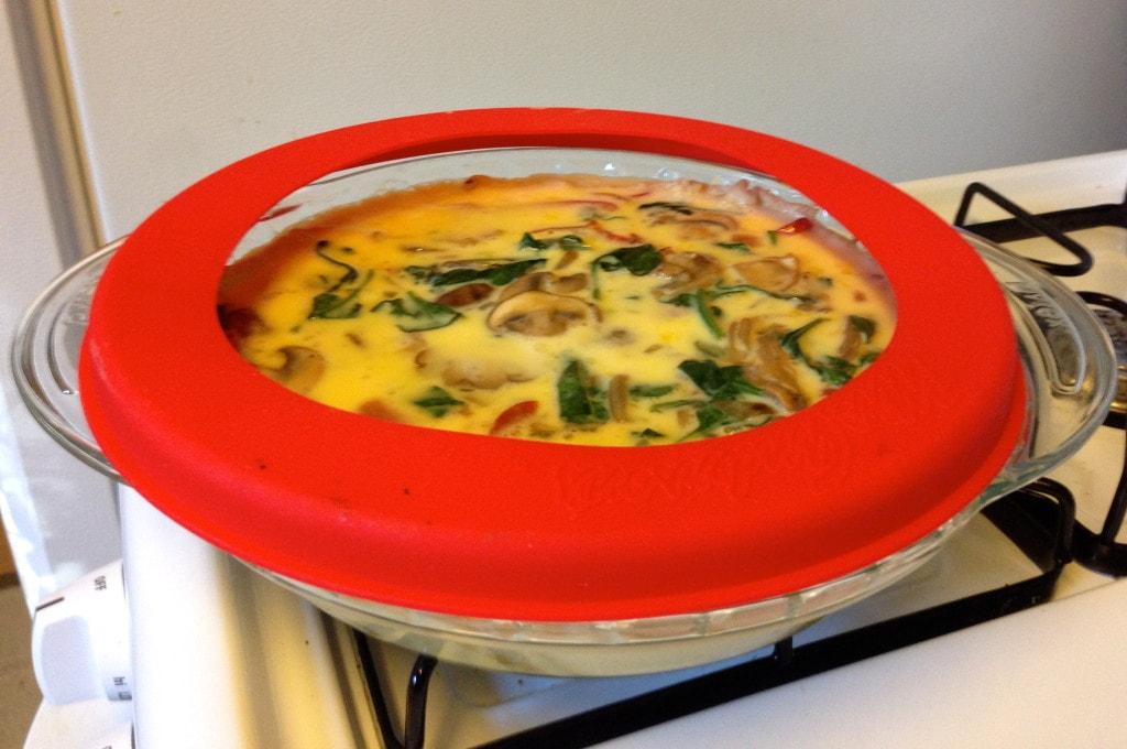 Easy Veggie Quiche Pie Shield
