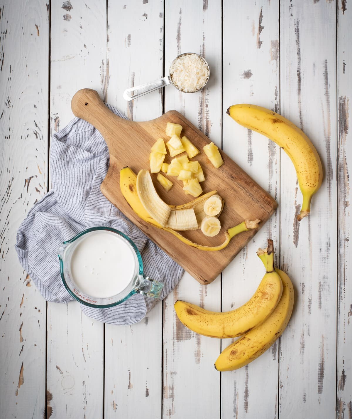 ingredients for banana ice cream