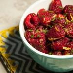 Raspberries with Lemon Zest and Mint