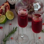 Rosemary pomegranate mimosas encapture the essence of relaxed holiday gatherings where festive simplicity leaves more time to enjoy time with family and friends.