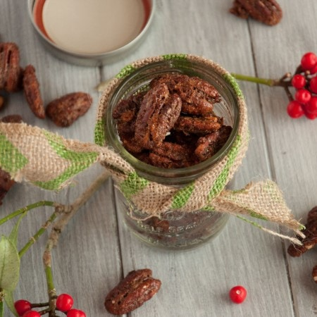 These spiced pecans have an addicting balance of salty and sweet, with a hint of spice and a toasty decadent richness that is perfect for the holidays.