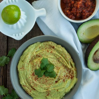 Creamy, healthy, guacamole-like avocado hummus is a delicious high protein snack that is naturally vegan and gluten free so its good for everyone!