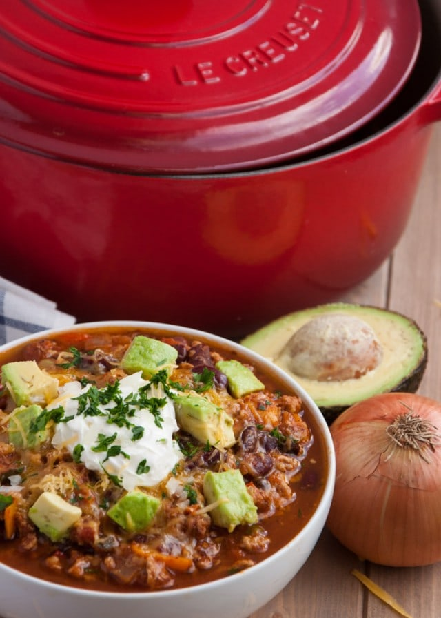 THE best turkey chili recipe packed with veggies, protein, and flavor is the perfect light yet hearty recipe for cold winter nights.
