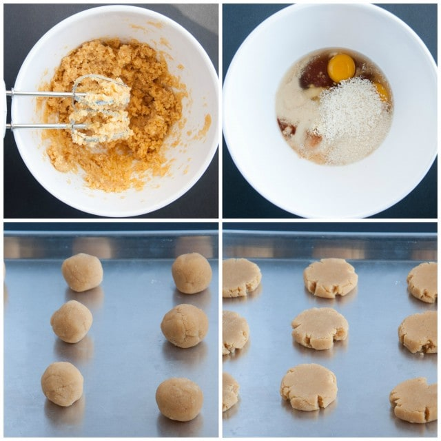 Coconut Flour Cookie Recipe - Collage
