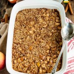 Hearty apple cinnamon baked oatmeal is a wholesome, filling, and delicious way to start the day with 7 grams of protein and under 300 calories!