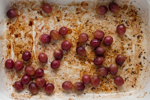 With roasted grapes, goat cheese, rosemary, and pecans piled high on crostini, this appetizer is bursting with flavor and is a crowd pleaser at any event! - Feasting Not Fasting