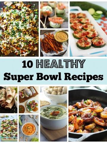 Want healthy Super Bowl recipes to avoid noshing on junk this Sunday? Check out this recipe round up for some delicious, lighter snacks to fuel up on game day!