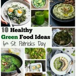 Ten green food ideas to hep you celebrate St. Patrick's day in a healthy way that is still incredibly fun and full of all things green and festive!