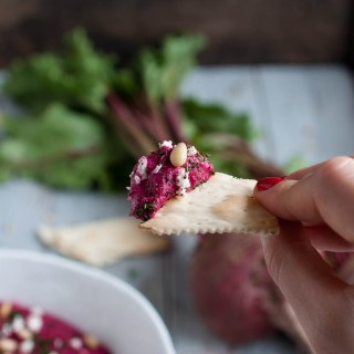 This beet hummus is as delicious as it is beautiful with its vibrant pink color, earthy flavor, and healthy as can be with over 7 grams of protein per serving.