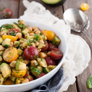 Chickpea Salad with Tomatoes and Basil