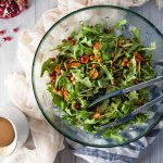 Arugula Sweet Potato Salad with Tahini Dressing