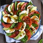 Avocado Caprese Salad with Balsamic Glaze