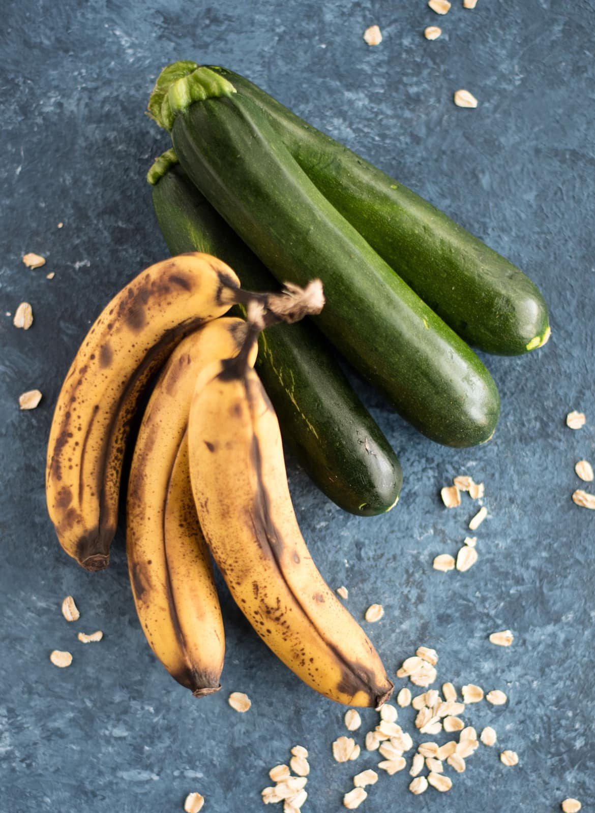 zucchini and brown bananas